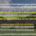 Evolución y dispersión de Xylella fastidiosa en distintas zonas bioclimáticas de las Islas Baleares